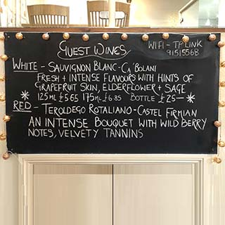 Guest Wines Board